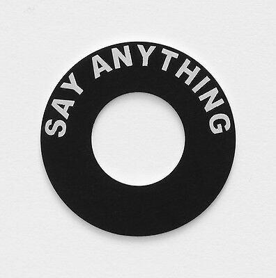 Custom Round Black Metal Label-- boat/car/toggle switch (single or double text)