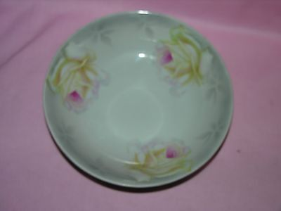 Amazing Vintage P V Vessra Hand Painted China Serving Bowl - Germany Signed