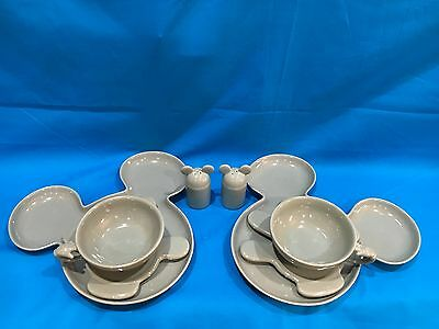 Mickey Mouse - Disney set of dishes. All pieces are marked Disney.  8 piece set.