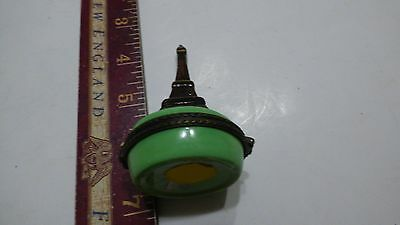 Handpainted French Eiffel Tower Paris France Porcelain Hinged Trinket Box