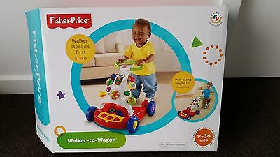 Fisher Price Walker to Wagon Baby Toddler Walker Learning Walk
