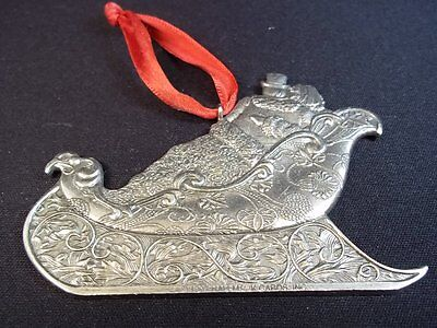 Hallmark pewter ornament sleigh ride Our Christmas Together 1997