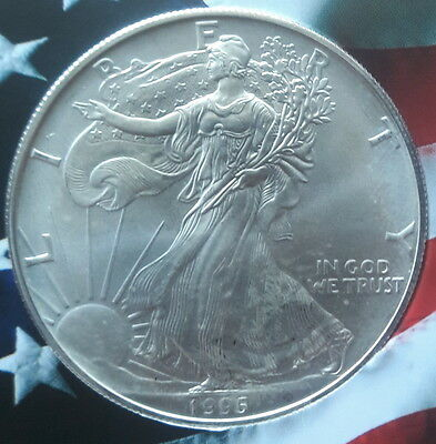 1995 AMERICAN 1oz SILVER EAGLE- ONLY $23.84+S/H