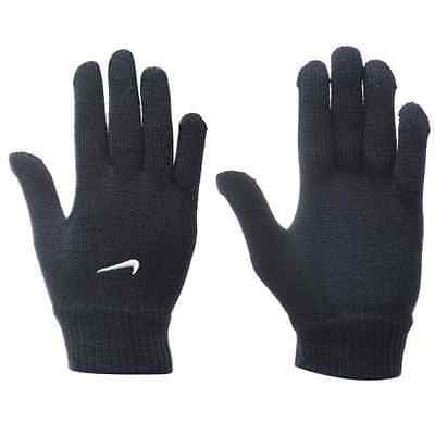 Nike Knitted Gloves Swoosh Logo Football Running Training Cold Weather Winter