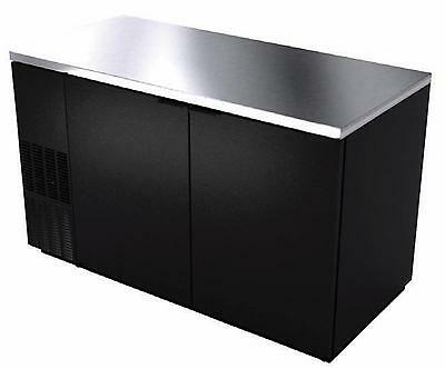 "BK Resources BB-2-59 59"" Back Bar Cooler with Black Vinyl Exterior"