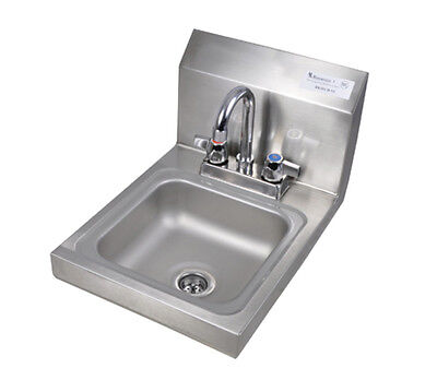 "Bk Resources 9""wx9""dx4-3/8"" Wall Mount Space Saver Hand Sink - Bkhs-D-Ss-P-G"