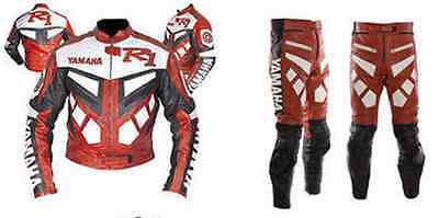 YAMAHA-R1-2 Piece Motorbike Leather Suit Motorcycle Racing Leather Suit(Replica)