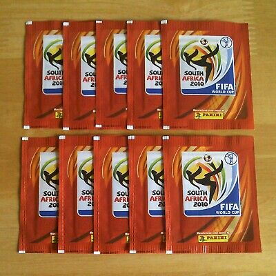 Panini WORLD CUP 2010 SOUTH AFRICA Football Stickers - 10 x Sealed Packets.