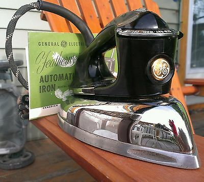 Canadian General Electric Featherweight Automatic Iron Model F84 Vintage