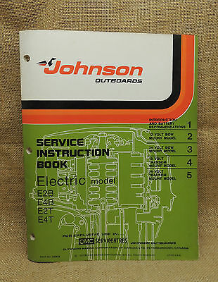 1976 Johnson Seahorse Service Repair Manual Electric E2B E4B E2T E4T 406423