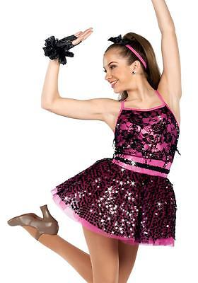 Dance Costume Large Child 11-12 Pink Dress jazz Tap Solo Competition Pageant