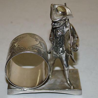 Antique Figural Napkin Ring: Monkey in Fine Clothes, Toronto Silver Plate Co.