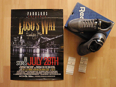 FABOLOUS Rapper SIGNED Poster SNEAKERS Trainers TICKETS Reebok Classic HIP HOP $