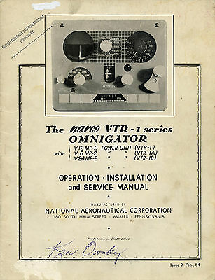 The Narco Vtr 1 Series Omnigator - Operation - Installation And Service Manual