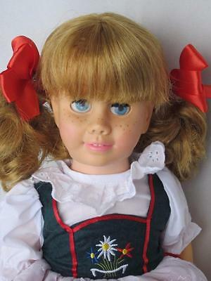 CHATTY CATHY Blonde Pigtail GERMAN DRESS TALKS FREE SHIPPING