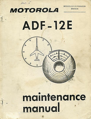 Motorola Adf-12E Maintenance Manual