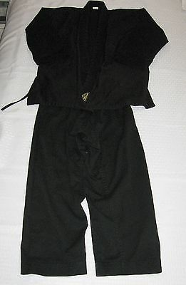 Child / Student Martial Arts /  Karate Uniform - Size 0 Tiger Claw's -  Black