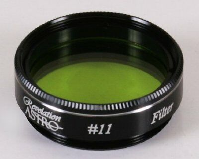 """1.25"""" Revelation No 11 Yellow Green Filter for most Celestron or SW Telescopes"""