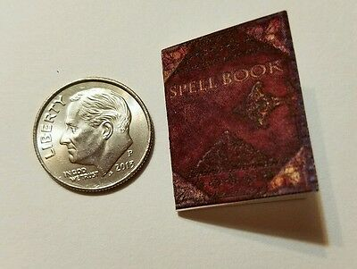 Miniature dollhouse Halloween witch spell book Barbie 1/12 Scale accessories