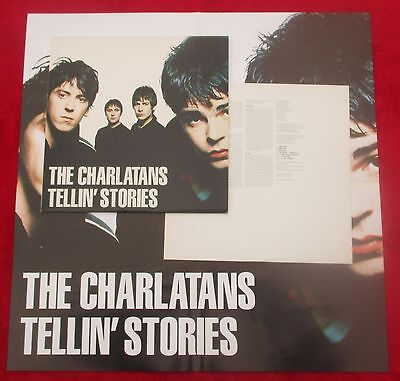 THE CHARLATANS Tellin' Stories UK LP 1st Press 1997 incl POSTER - MINT UNPLAYED