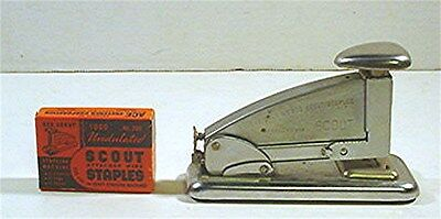 Vintage Scout Model 202 Stapler- Ace Fastener Co. Chicago-W/  Box Of Staples