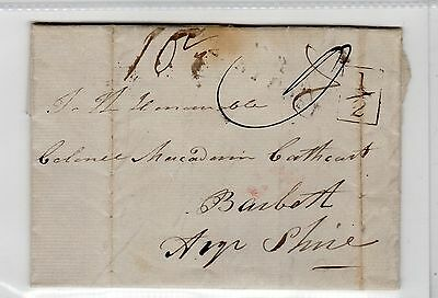 Scot - Dumfriesshire: 1839 Entire With Leadhills Mark To Ayrshire (C23675)