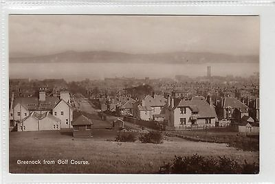 GREENOCK FROM GOLF COURSE: Renfrewshire postcard (C23727)