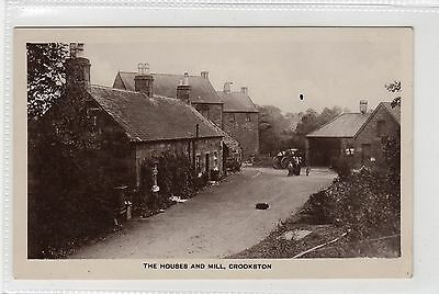 THE HOUSES AND MILL, CROOKSTON: Renfrewshire postcard (C23730)