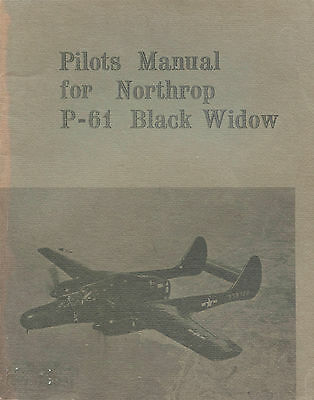 Pilots Manual For Northrop P-61 Black Widow