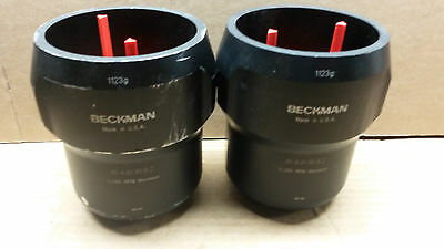 2 Beckman JS-4.0 / 5.2, 1123g  Buckets and Inserts! Free Ship!