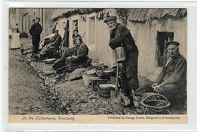 IN THE FISHERTOWN, CROMARTY: Ross-shire postcard (C23754)