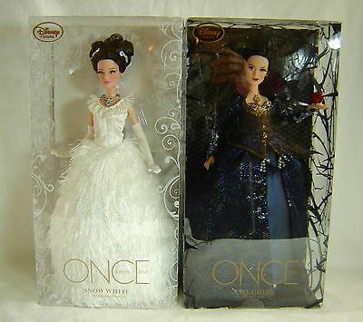 D23 Expo 2015 Once Upon a Time Doll Set Snow White Evil Queen LE 300 Disney