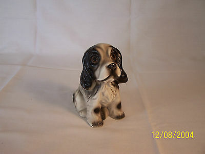 Vintage Porcelain Spaniel/ Marked JAPAN