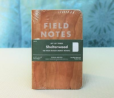 Field Notes Shelterwood Spring 2014 Edition Sealed Notebook 3-Pack