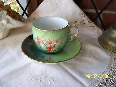 P.M. Bavaria Handpainted Cup & Saucer 1895