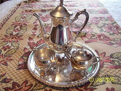 4+pc Leonard Silverplate Coffee Set by Leonard Silver