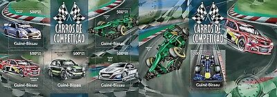 GB13311ab Guinea-BISSAU 2013 Racing cars MNH SET