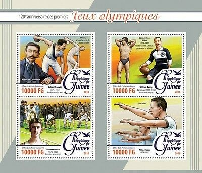 Z08 GU16207a GUINEA 2016 the first Olympic Games MNH