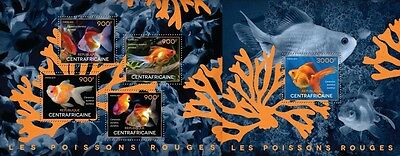 CA14523ab Central Africa 2014 Goldfishes MNH SET