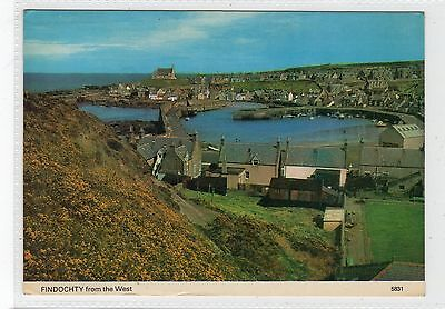 FINDOCHTY FROM THE WEST: Banffshire postcard (C23258)