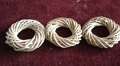 "Lot of 3-- 3 1/2"" willow wreaths for crafts"