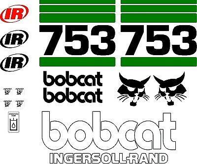 753 Replacement decals decal kit / sticker set skid loader steer fits bobcat