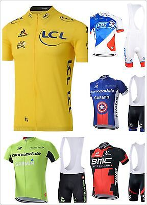 2017 Pro Team Cycling Jersey Bib Shorts Set