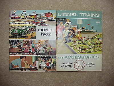 TWO Vintage 1962 Lionel Trains + Accessories Catalogs - Original