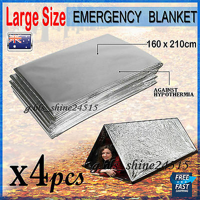4x Emergency Space PREMIUM Blankets Camping Survival Rescue First Aid Waterproof