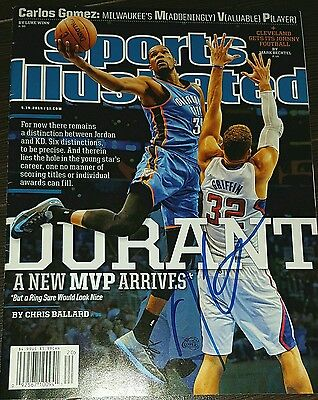 Kevin Durant signed Sports Illustrated Magazine - warriors