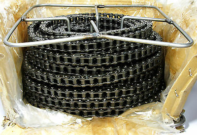 Tsubaki Carbon Steel Riveted Roller Chain 40TW100 - 100 Feet, 40 ANSI NEW