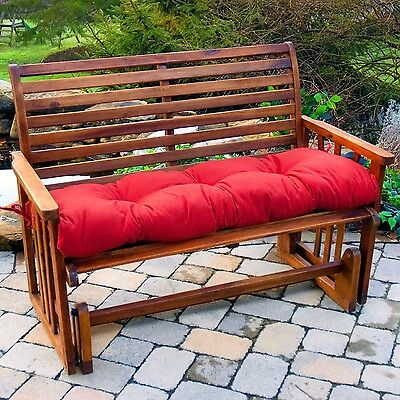Porch Swing Cushion Glider Bench Seat 44 in. Tufted Padding Outdoor Patio Pillow