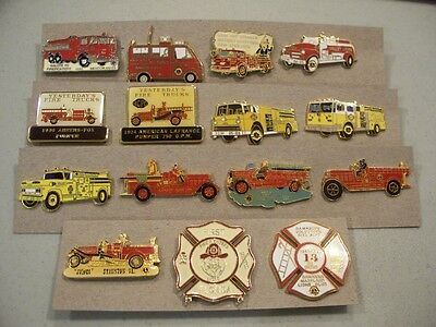 Various Fire Trucks  Lions Club Pins