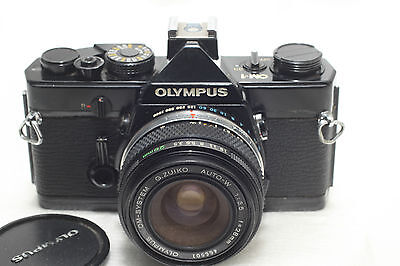 Olympus OM-1 Film Camera Black w/28mm f3.5 Lens *Excellent*